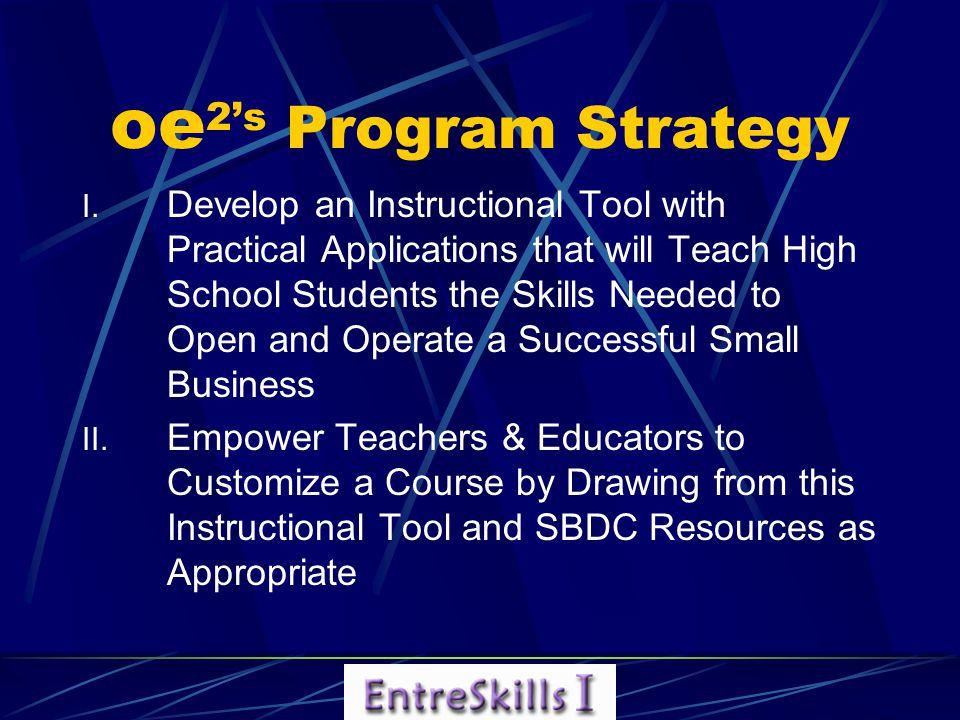 oe 2's Program Strategy I.