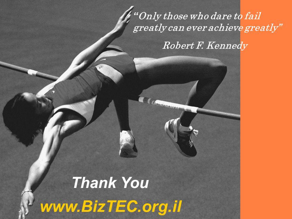 "TechIA Forumhttp://www.BizTEC.org.il TechIA Forum - http://www.BizTEC.org.il 12 "" Only those who dare to fail greatly can ever achieve greatly"" Robert"