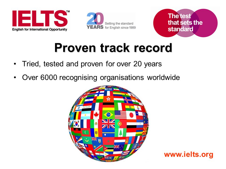 www.ielts.org On-line TRF Verification Service Log in at www.ielts.org/TRF and click on TRF Querywww.ielts.org/TRF