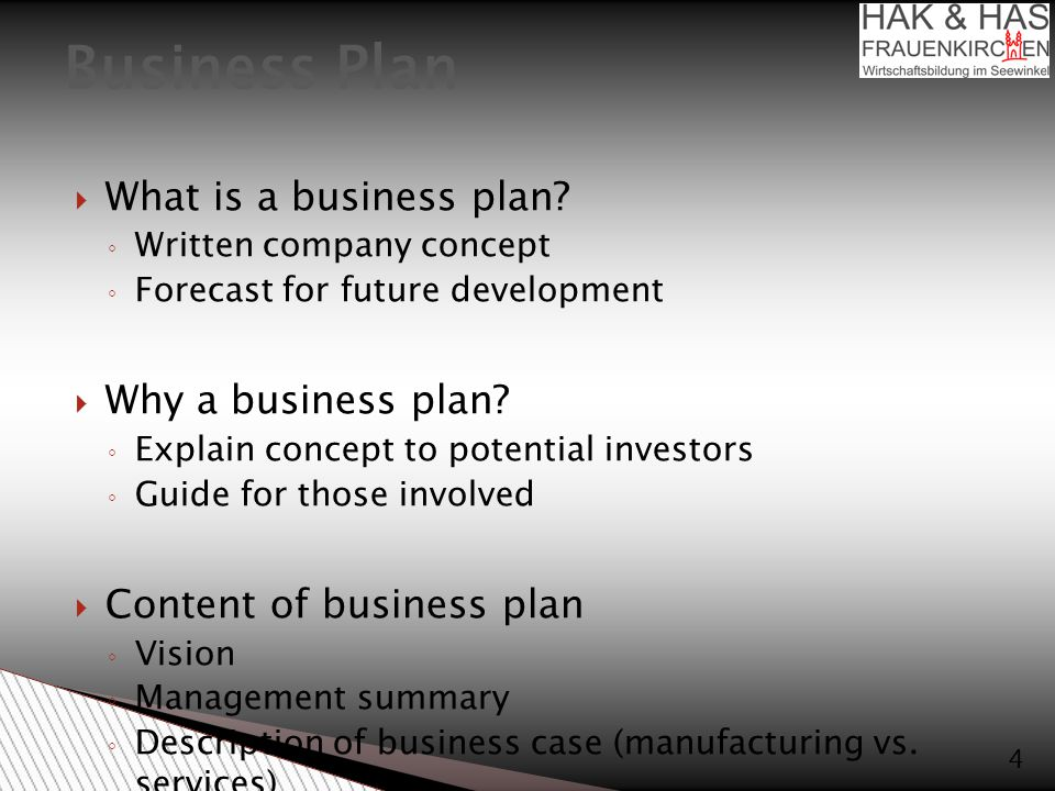  What is a business plan.
