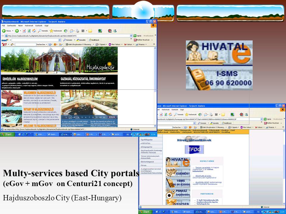 Multy-services based City portals (eGov + mGov on Centuri21 concept) Hajduszoboszlo City (East-Hungary)