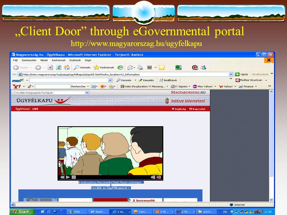 """Client Door through eGovernmental portal http://www.magyarorszag.hu/ugyfelkapu"