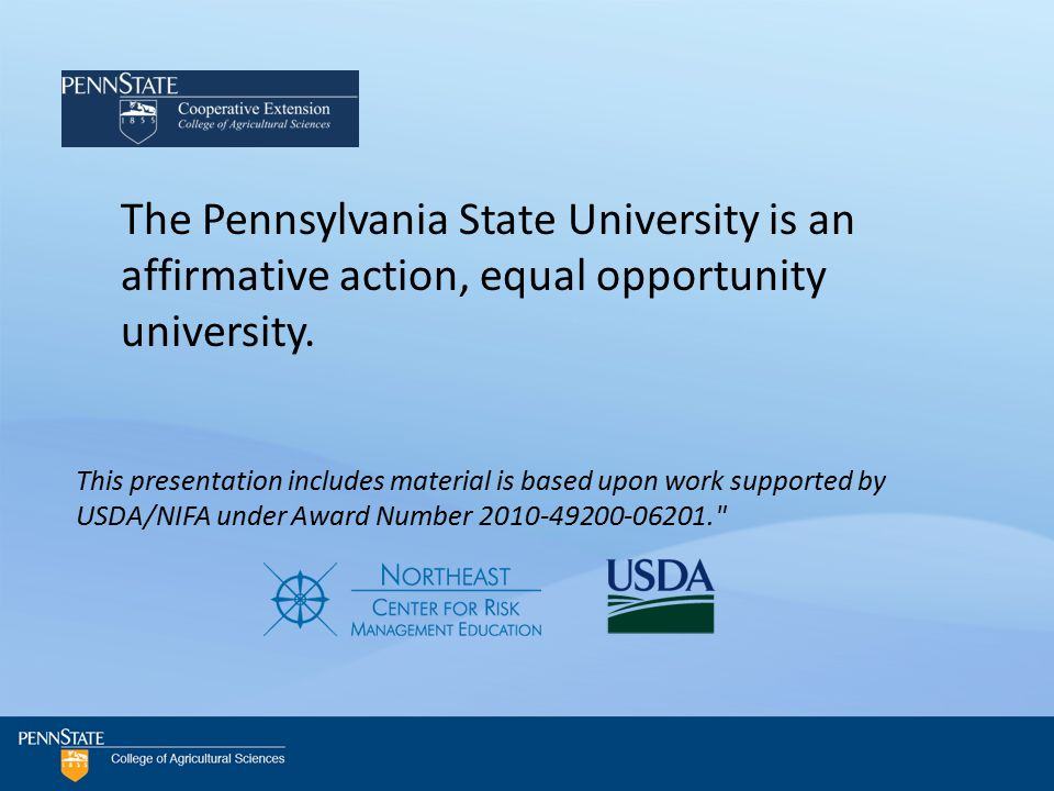 The Pennsylvania State University is an affirmative action, equal opportunity university.