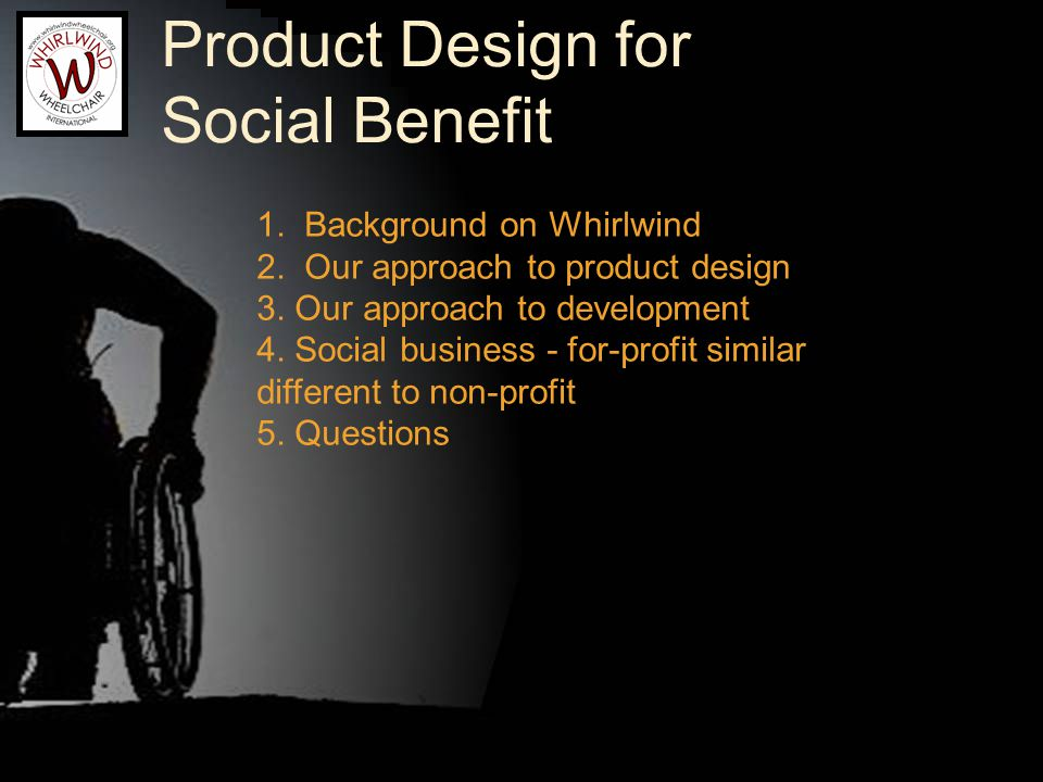 The User MUST Be A Leader Users are Rider/Builders Users are testers Ralf is Founder and Chief Engineer Hiring preference for direct experience with disability Design quoteable