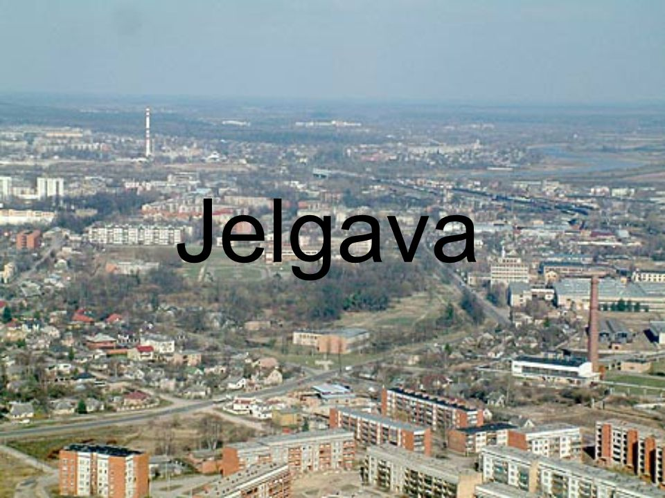 Jelgava is a town in central Latvia about 41 km southwest of Riga with 65,419 inhabitants (2009).