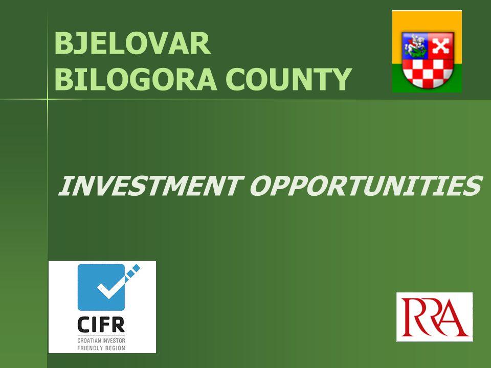 INVESTMENT OPPORTUNITIES BJELOVAR BILOGORA COUNTY