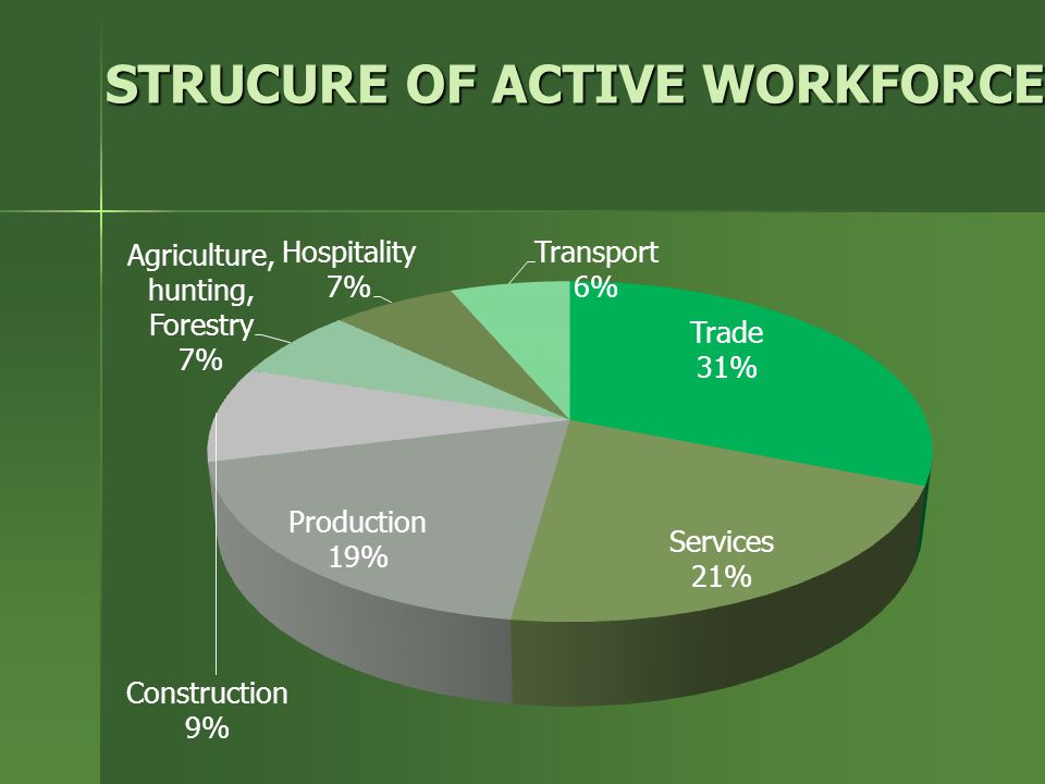 STRUCURE OF ACTIVE WORKFORCE