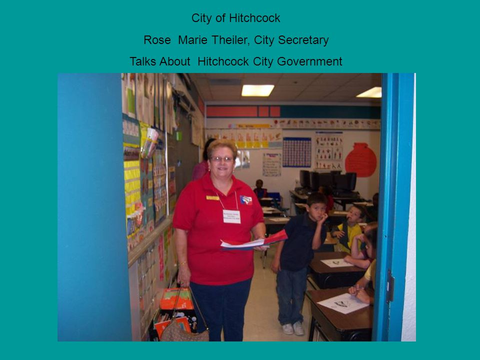 City of Hitchcock Rose Marie Theiler, City Secretary Talks About Hitchcock City Government