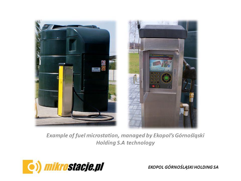 EKOPOL GÓRNOŚLĄSKI HOLDING SA Example of fuel microstation, managed by Ekopol's Górnośląski Holding S.A technology