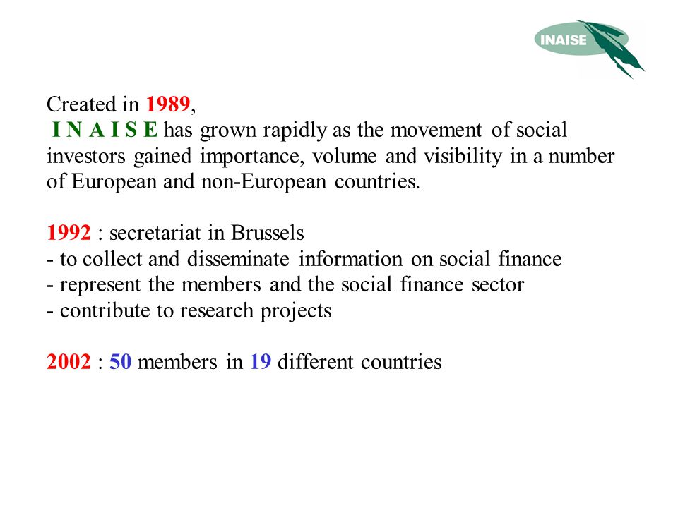 Resources and lending (31/12/2002) 8 banks member of Inaise