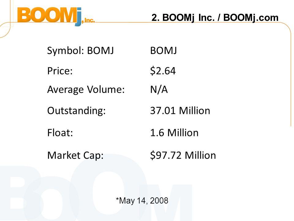 2. BOOMj Inc.