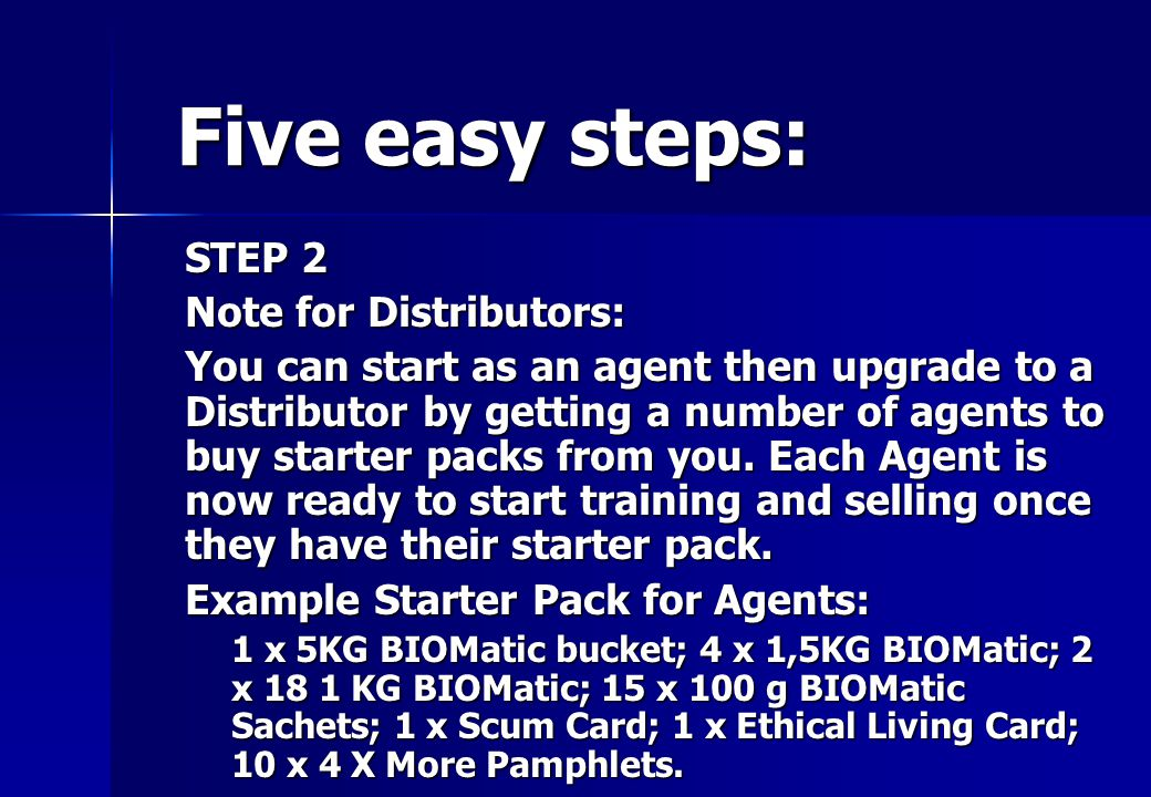 STEP 2 ORDER STOCK Work out your order – fill in your order form – email Order form together with your proof or payment to Lion Distributors: need to buy minimum of R2500 per month stock excluding marketing material to qualify for the Distributor discount.