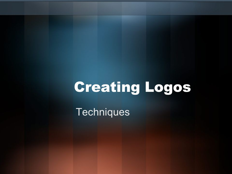 Creating Logos Techniques