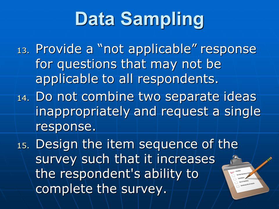 Data Sampling 13.