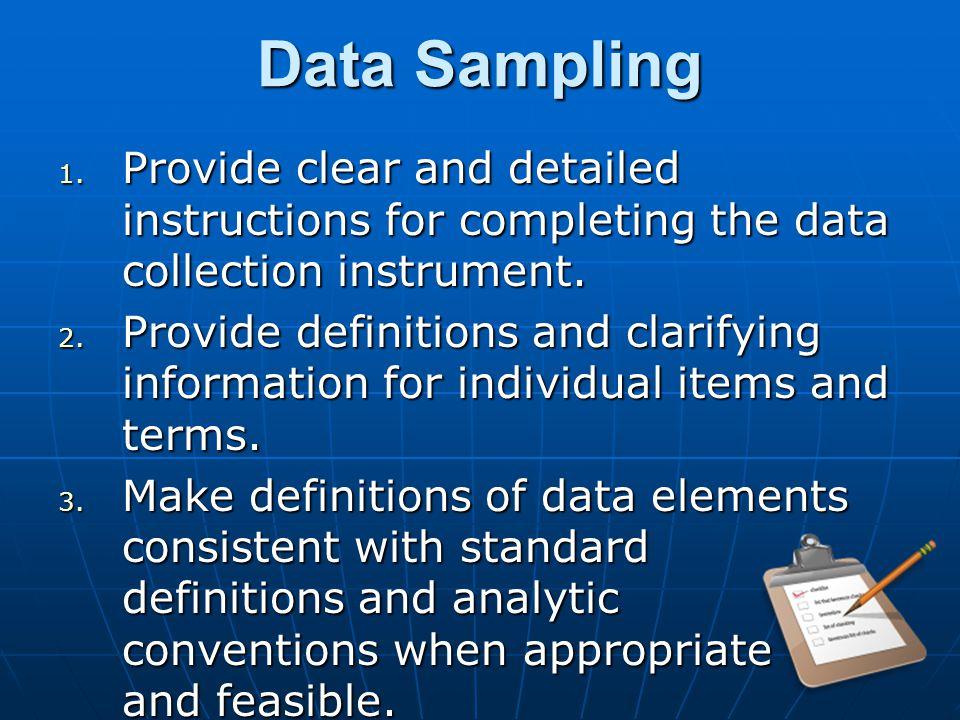 Data Sampling 1.