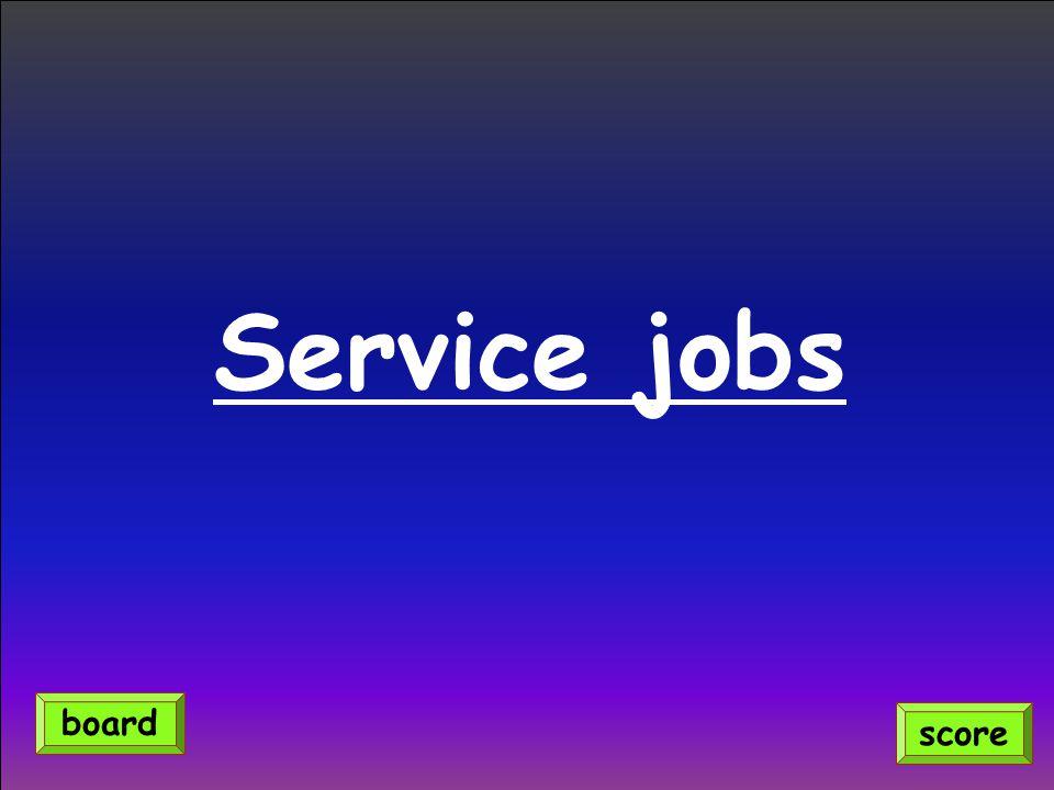 Service jobs score board