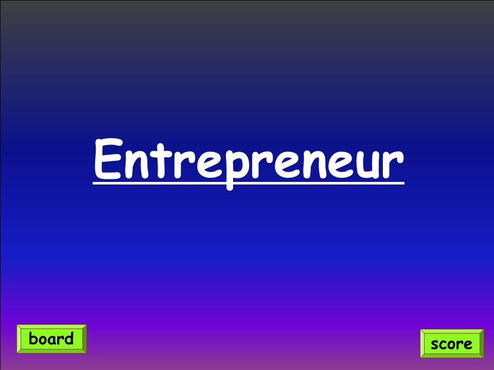 Entrepreneur score board