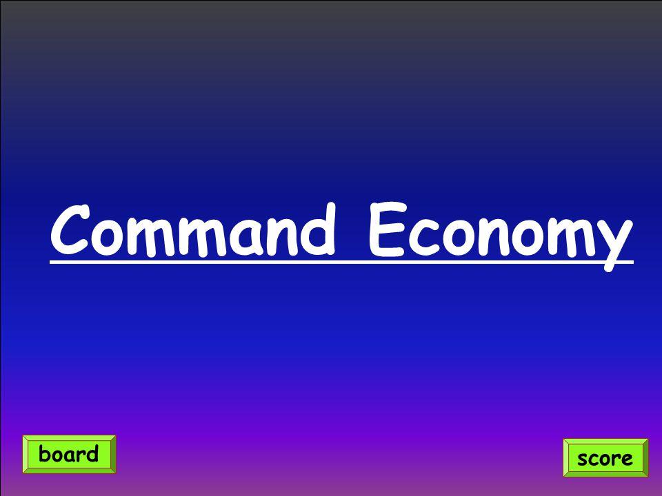 Command Economy score board