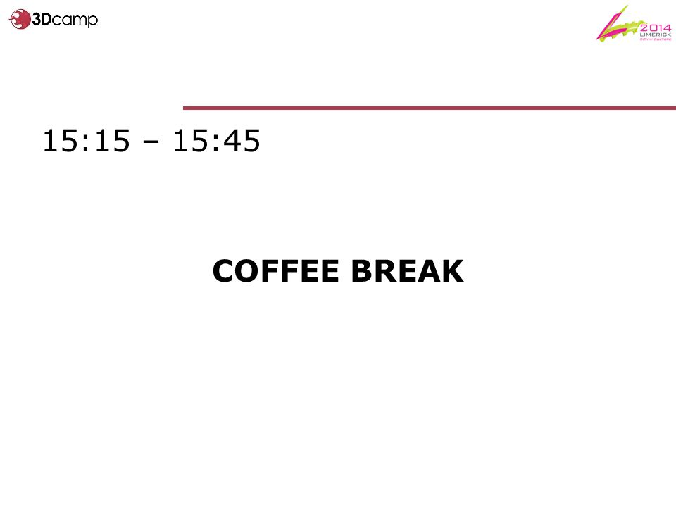 15:15 – 15:45 COFFEE BREAK