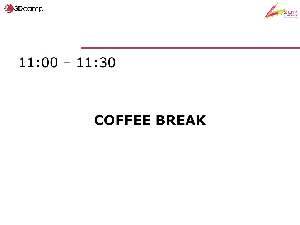 11:00 – 11:30 COFFEE BREAK
