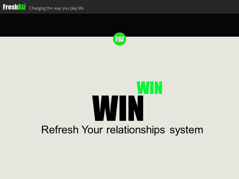WIN Refresh Your relationships system WIN
