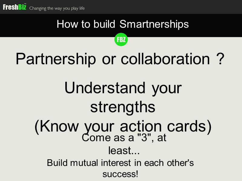Partnership or collaboration .