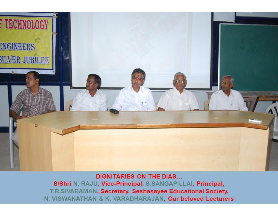 DIGNITARIES ON THE DIAS… S/Shri N.
