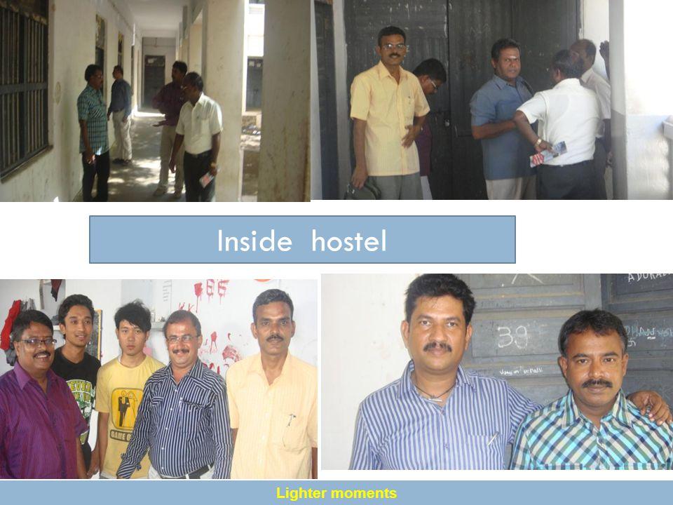 Inside hostel