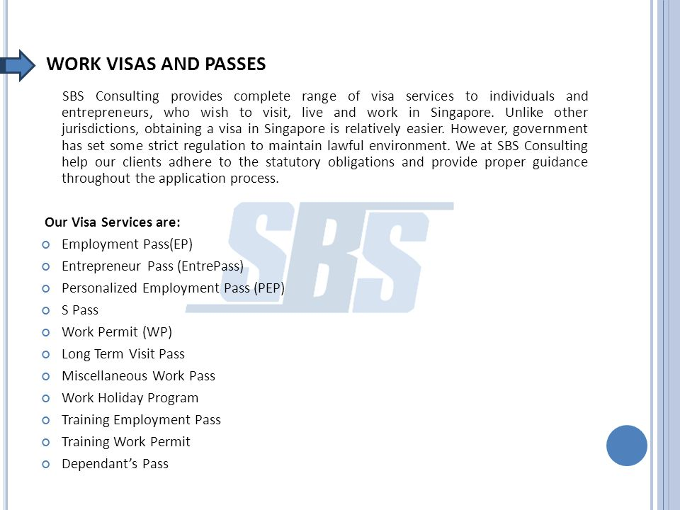 WHY SBS CONSULTING FOR VISA SERVICES .