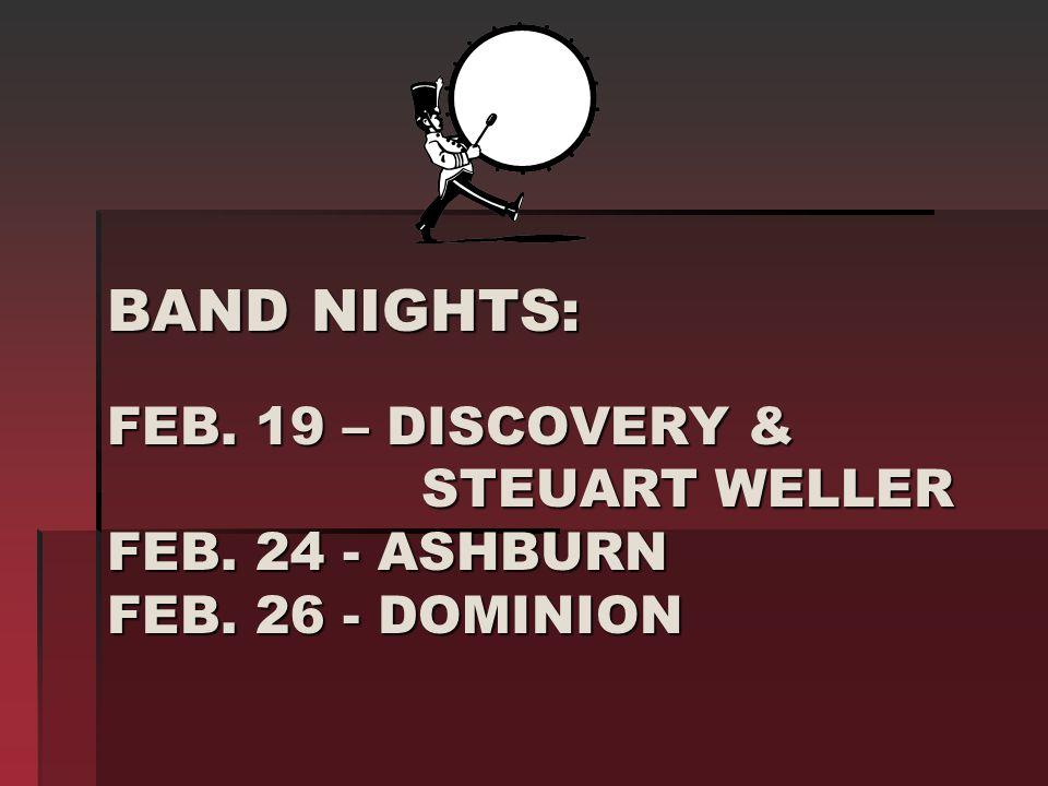 BAND NIGHTS: FEB. 19 – DISCOVERY & STEUART WELLER FEB.