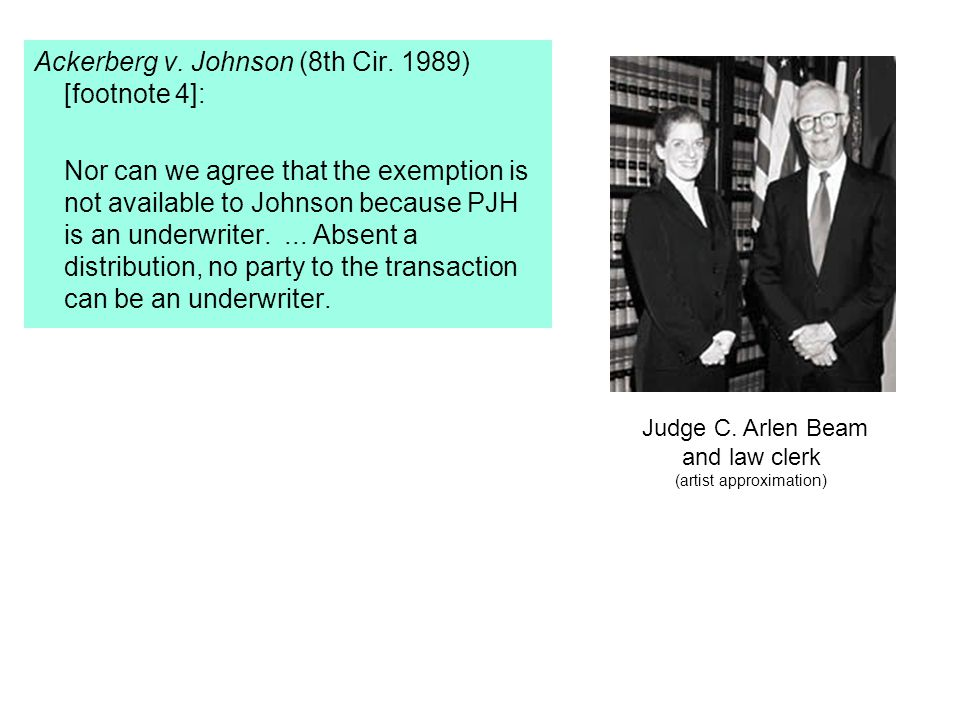 Ackerberg v. Johnson (8th Cir.
