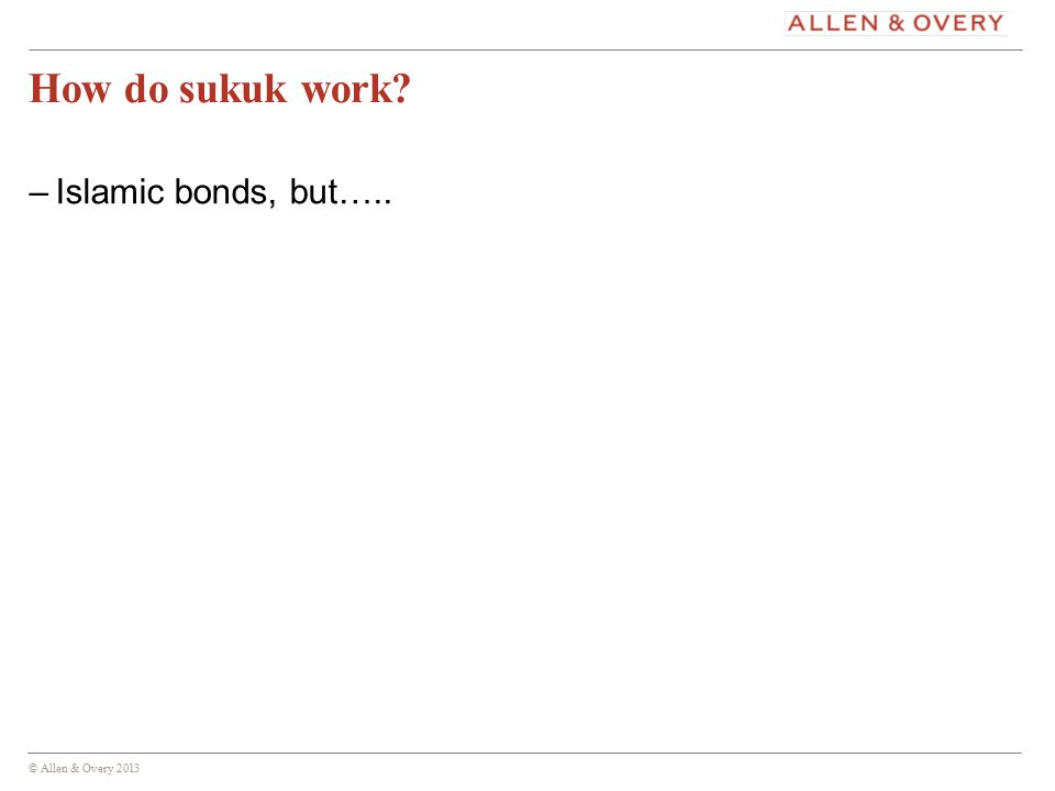 © Allen & Overy 2013 18 Any questions? 18