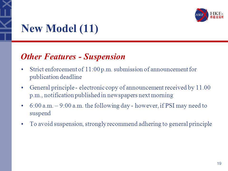 19 New Model (11) Strict enforcement of 11:00 p.m.