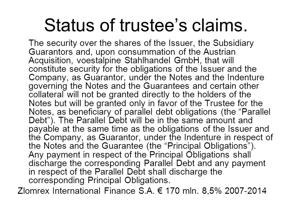Cross Default … if any Relevant Indebtedness of the Issuer or the Guarantor or any of their respective Material Subsidiaries becomes due and repayable prematurely by reason of any event of default (however described) or the Issuer or the Guarantor or any of their respective Material Subsidiaries fails to make any payment in respect of any Relevant Indebtedness on the due date therefore as extended by any applicable grace period or any security given by the Issuer or the Guarantor or any of their respective Material Subsidiaries for any Relevant Indebtedness becomes enforceable or if default is made by the Issuer or the Guarantor or any of their respective Material Subsidiaries in making any payment due under any guarantee and/or indemnity given by it in relation to any Relevant Indebtedness of any other person, provided that no such event shall constitute an Event of Default unless the Relevant Indebtedness or other relative liability either alone or when aggregated with other Relevant Indebtedness and/or other liabilities relative to all (if any) other such event which shall have occurred and be continuing shall amount to at least € 10,000,000 or its equivalent in any other currency; Getin Finance plc € 1.000.000.000 Program emisji obligacji 2006