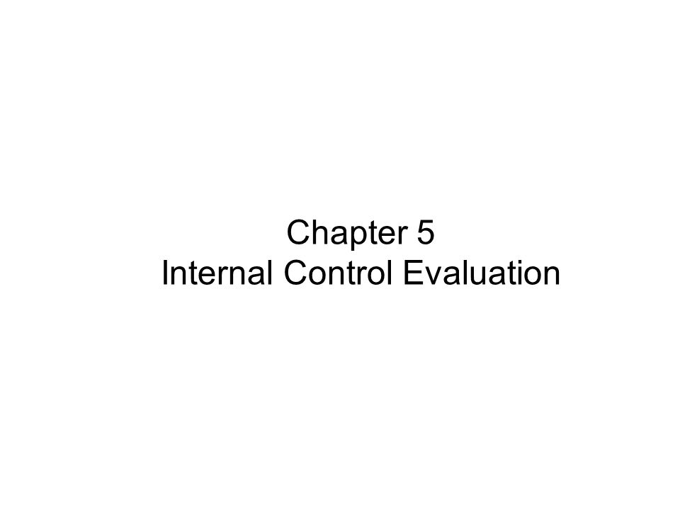 Chapter 5 Internal Control Evaluation