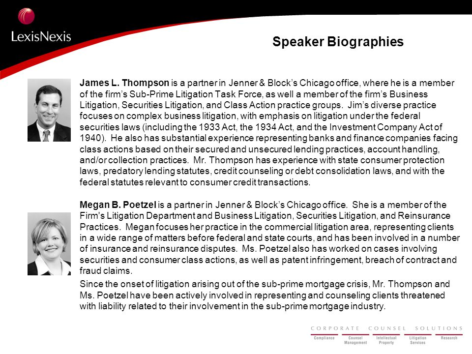 Speaker Biographies James L.