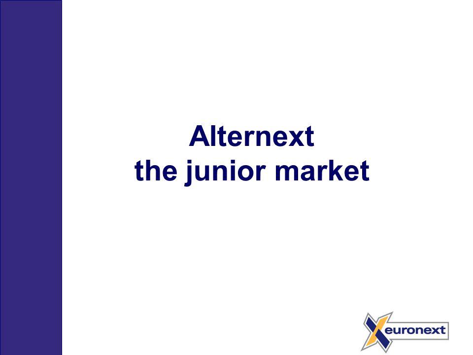 Alternext the junior market