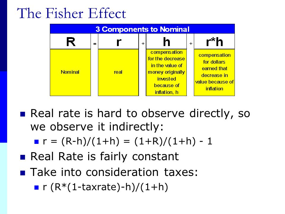 70 Example 6.6 If we require a 10% real return and we expect inflation to be 8%, what is the nominal rate? R = (1.1)(1.08) – 1 =.188 = 18.8% Approxima