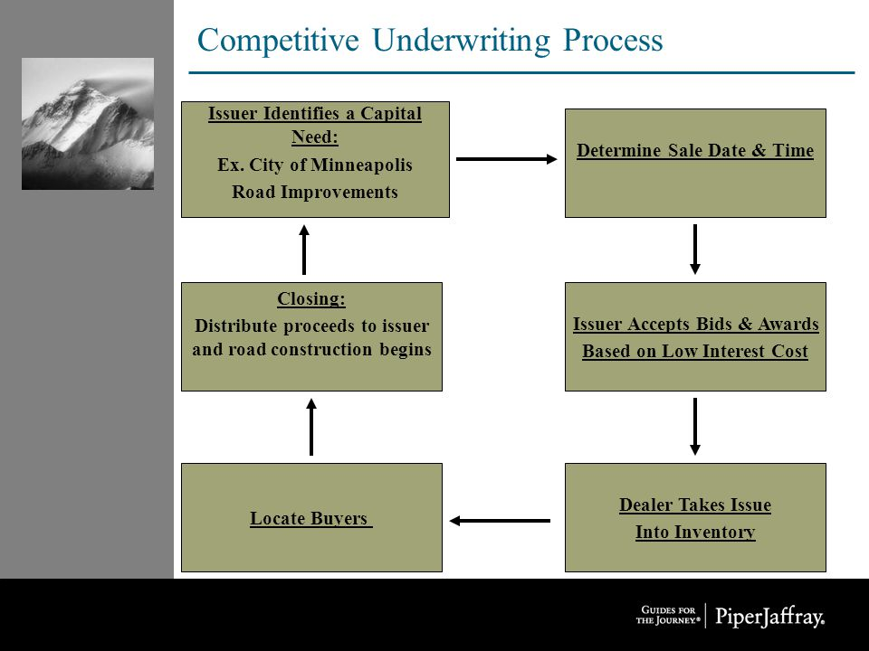 Competitive Underwriting Process Issuer Identifies a Capital Need: Ex.