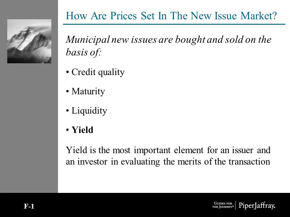 How Are Prices Set In The New Issue Market.