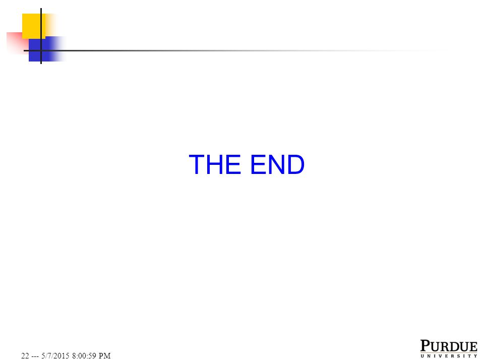 22 --- 5/7/2015 8:01:19 PM THE END