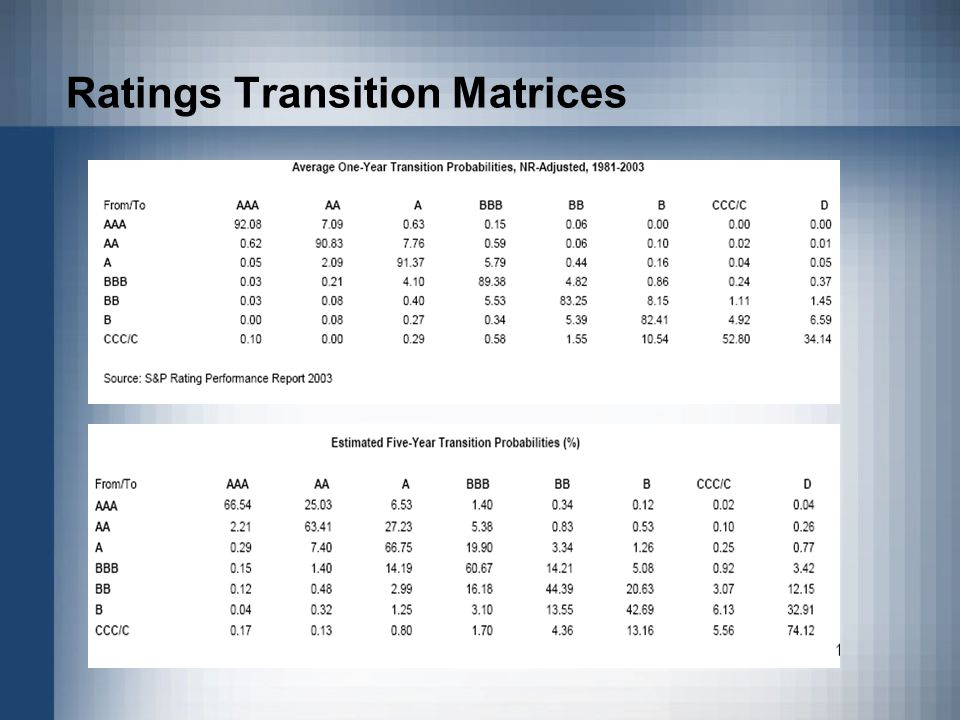 Ratings Transition Matrices