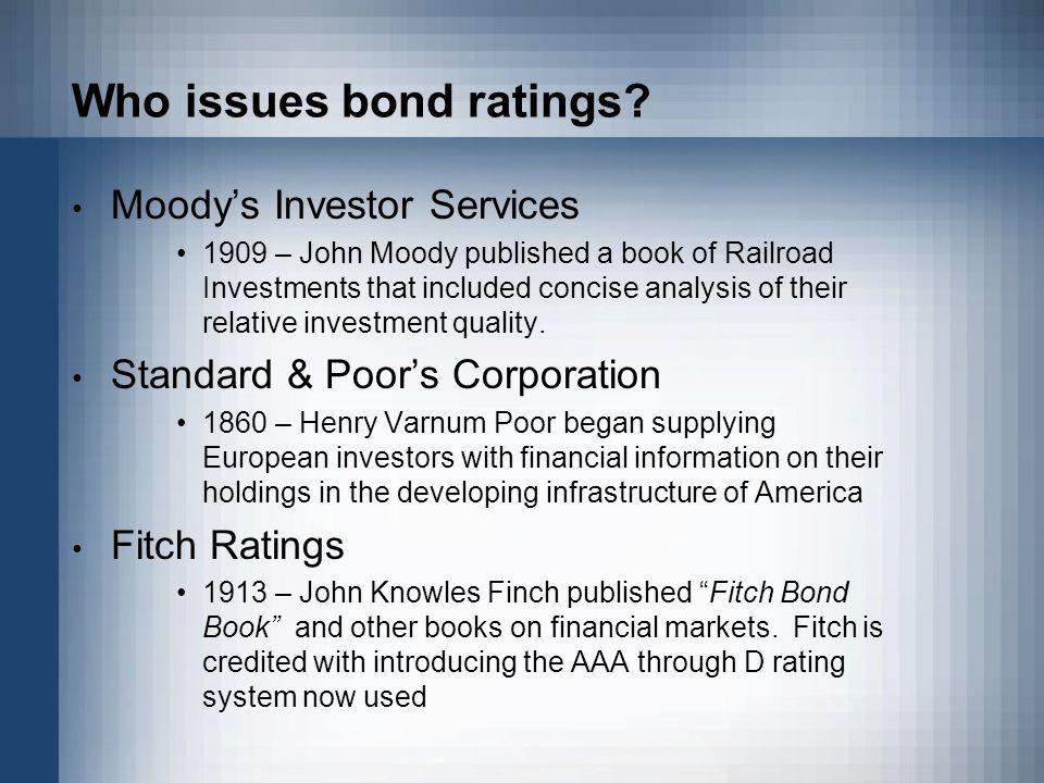 Comparison of Bond Ratings