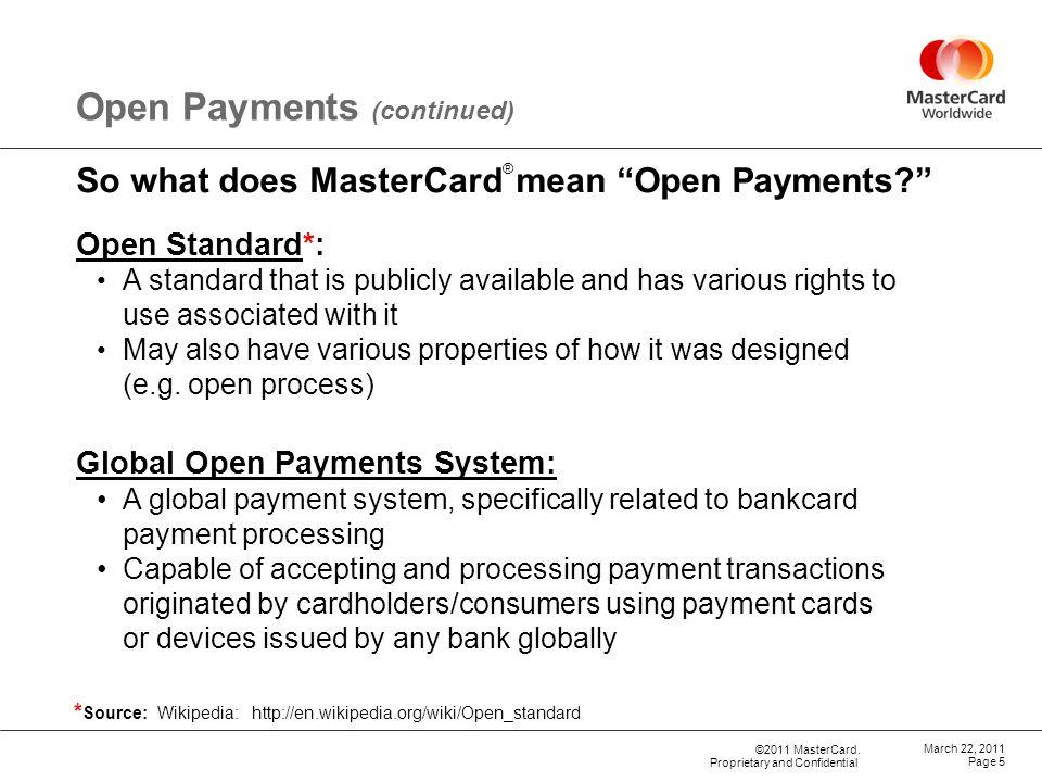 ©2011 MasterCard.
