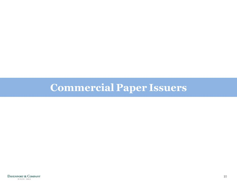 10 Commercial Paper Issuers