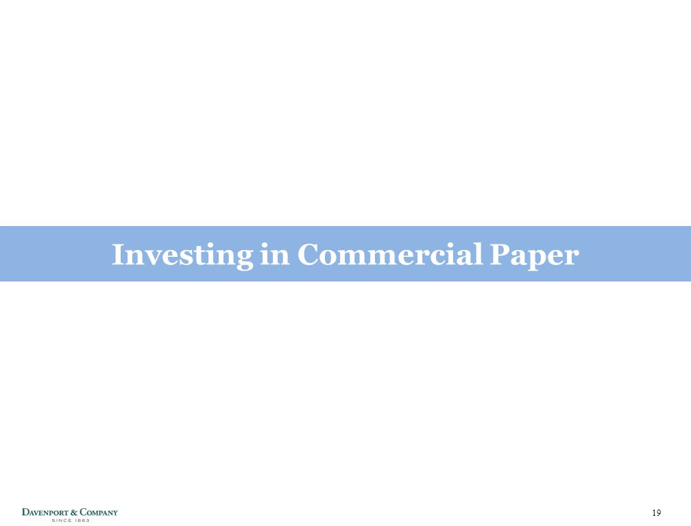 19 Investing in Commercial Paper