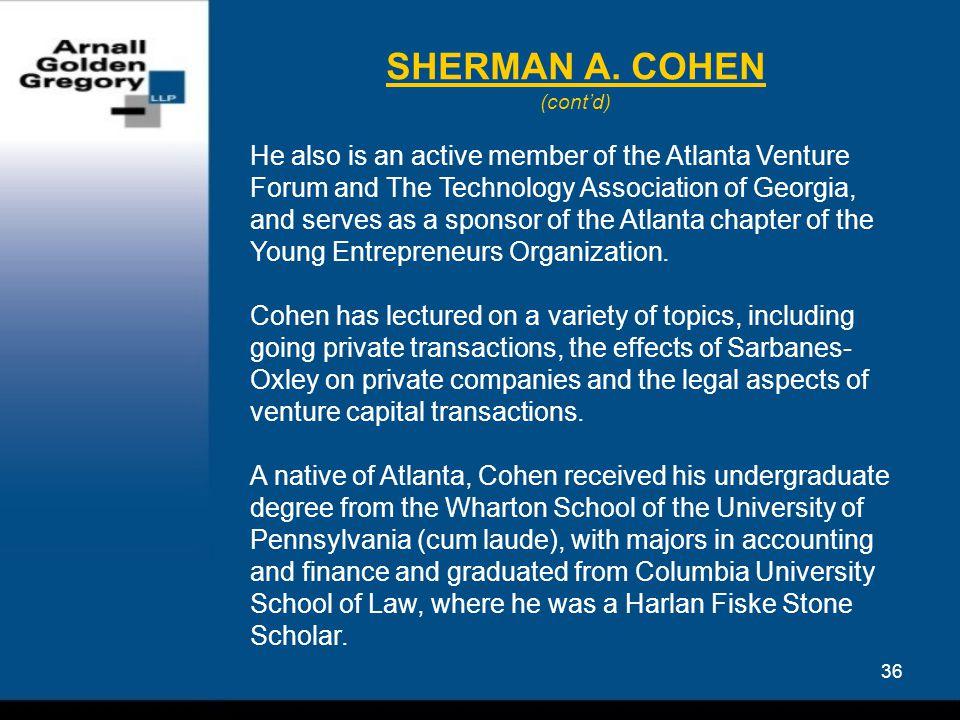 36 SHERMAN A.