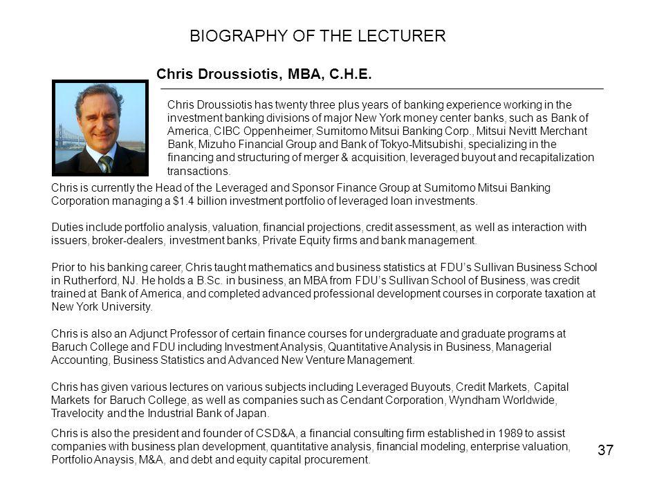 37 Chris Droussiotis, MBA, C.H.E.