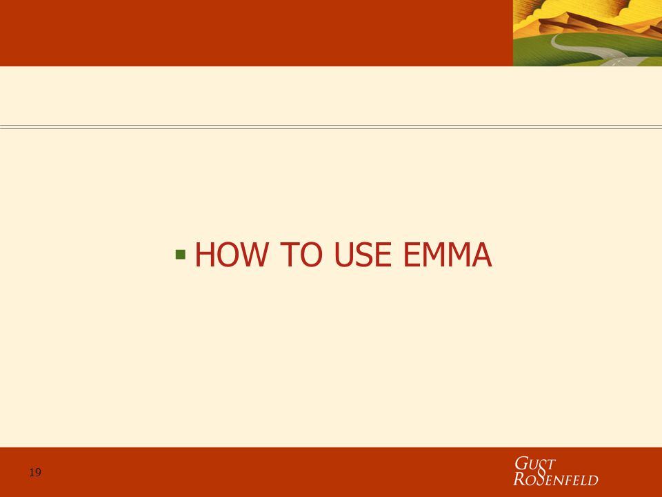 19  HOW TO USE EMMA