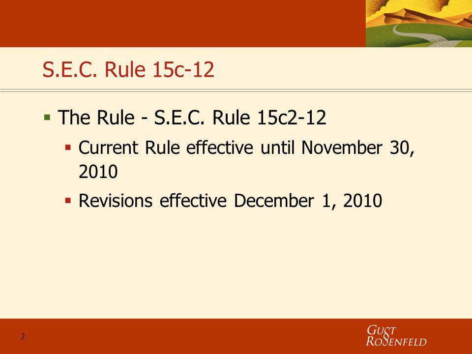 2 S.E.C. Rule 15c-12  The Rule - S.E.C.